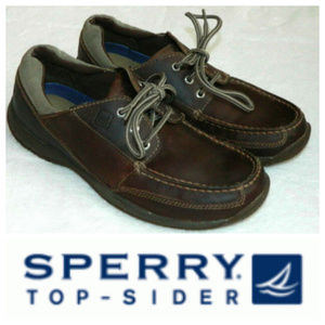 SPERRY TOP SIDER Mens 9 BOAT SHOES LOAFERS Brown